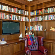 Fyfe Kitchens also designed and manufactured a library bookcase, furniture, home, interior design, library, shelving, brown