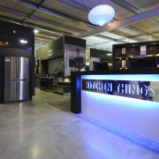 Kitchen things make all the top European brands exhibition, interior design, lobby, black, gray