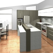 See before you buy Pridex Kitchens provides 3D floor, interior design, kitchen, product design, white, gray