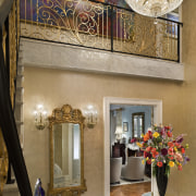 View of stairway with accessories - View of ceiling, home, interior design, brown