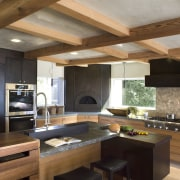 Ranch-style kitchen by Applegate Tran Interiors - Ranch-style architecture, cabinetry, ceiling, countertop, cuisine classique, interior design, kitchen, brown