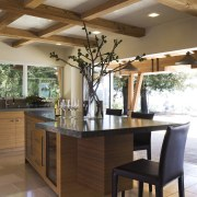 Ranch-style kitchen by Applegate Tran Interiors - Ranch-style cabinetry, ceiling, countertop, cuisine classique, furniture, interior design, kitchen, table, brown