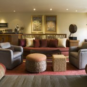 View of this traditional house - View of couch, furniture, home, interior design, living room, lobby, real estate, room, brown