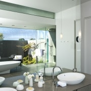 Contemporary bathroom - Contemporary bathroom - architecture | architecture, bathroom, home, house, interior design, room, white, gray