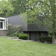 Exterior view after decorating - Exterior view after architecture, backyard, cottage, courtyard, estate, facade, farmhouse, garden, grass, home, house, landscape, lawn, outdoor structure, property, real estate, residential area, shed, siding, tree, yard, green
