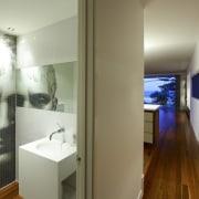 Powder room with modern bathroomware & classical face art, art exhibition, art gallery, exhibition, interior design, modern art, room, wall, brown