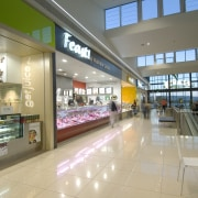 Fairview Green Shopping Centre, Fairview Park, WA - airport terminal, food court, retail, shopping mall, orange, gray