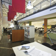 JCY Architects + Urban Designers office, Perth - institution, interior design, library, public library, gray