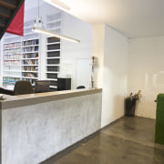 JCY Architects + Urban Designers office, Perth - floor, furniture, interior design, lobby, gray