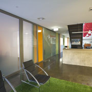 JCY Architects + Urban Designers office, Perth - architecture, interior design, lobby, real estate, gray