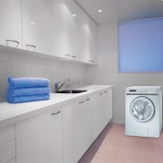 Laundry showing Energy Efficient TSL pump dryer - clothes dryer, home appliance, interior design, kitchen, laundry, laundry room, major appliance, product, product design, room, washing machine, gray