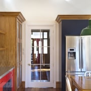 Entrance way of kitchen - Entrance way of cabinetry, ceiling, door, floor, flooring, hardwood, home, interior design, kitchen, real estate, room, wall, window, wood, wood flooring, white