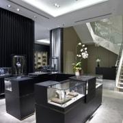 View of stairway - View of stairway - countertop, interior design, kitchen, black, gray