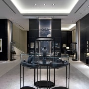 View of this contemporary retail store - View ceiling, interior design, gray, black