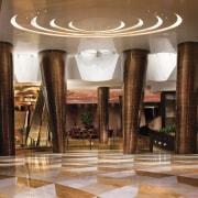CityCenter, Las Vegas - CityCenter, Las Vegas - ceiling, column, function hall, interior design, lobby, brown