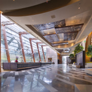 CityCenter, Las Vegas - CityCenter, Las Vegas - architecture, ceiling, condominium, daylighting, interior design, lobby, real estate, gray, brown