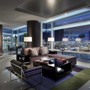 CityCenter, Las Vegas - CityCenter, Las Vegas - apartment, condominium, interior design, living room, lobby, real estate, room, black