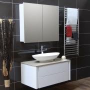 Overview of bathroom, accessories and vanity - Overview bathroom, bathroom accessory, bathroom cabinet, floor, flooring, furniture, interior design, product design, sink, black, gray