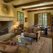 View of the lounge with wood floors & ceiling, estate, home, interior design, living room, real estate, room, wood, brown