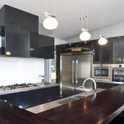View of kitchen designed by Celia Visser of countertop, interior design, kitchen, real estate, black, white