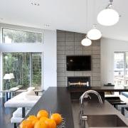 View of kitchen designed by Celia Visser of architecture, countertop, home, house, interior design, kitchen, table, white