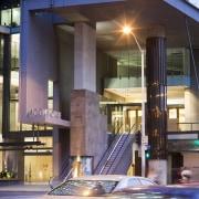 400 George St, Brisbane - 400 George St, architecture, building, city, condominium, downtown, metropolis, metropolitan area, mixed use, night, reflection, urban area, black