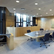 QLD Department of Justice and Attorney - QLD ceiling, conference hall, furniture, interior design, lobby, office, gray