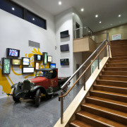 Lion's new HQ in South Auckland - Lion's floor, flooring, interior design, lobby, gray
