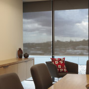 View of the office blinds by KWA Blinds interior design, room, window, gray, brown