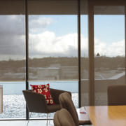 View of the office blinds by KWA Blinds apartment, house, interior design, table, window, brown, white