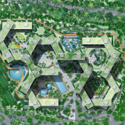 Interlace Conceptual - Interlace Conceptual - aerial photography aerial photography, area, bird's eye view, grass, land lot, residential area, suburb, urban design, green