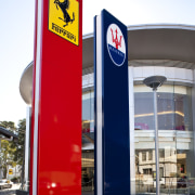 Ferrari Showroom in Australia - Ferrari Showroom in white