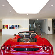 Ferrari Showroom in Australia - Ferrari Showroom in auto show, automotive design, automotive exterior, beauty, car, ferrari f430, land vehicle, luxury vehicle, motor vehicle, performance car, personal luxury car, red, sports car, supercar, vehicle, white
