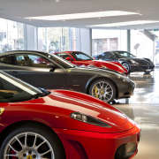 Ferrari Showroom in Australia - Ferrari Showroom in automotive design, automotive exterior, automotive wheel system, car, ferrari f430, ferrari f430 challenge, land vehicle, luxury vehicle, motor vehicle, performance car, race car, red, sports car, supercar, vehicle, wheel, white