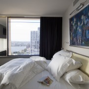 Interior view of bedroom - Interior view of bed, bedroom, interior design, property, real estate, room, suite, window, gray, white