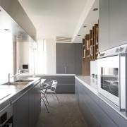 View of kitchen - View of kitchen - architecture, countertop, daylighting, house, interior design, kitchen, real estate, white, gray