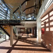 Interior view of the main hall - Interior architecture, lobby, real estate, brown