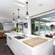 Interior view of a modern home by Jessop countertop, estate, house, interior design, kitchen, property, real estate, window, white