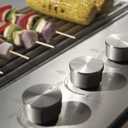 Close up view of the Barbecue's control - finger food, food, white, gray