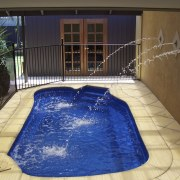 View of a spa pool with jets - estate, leisure, property, real estate, swimming pool, water, water feature, brown