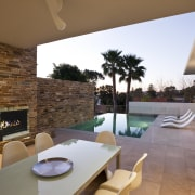 View of house with stone walls, walnut panelling apartment, architecture, estate, home, house, interior design, living room, property, real estate, wall, brown