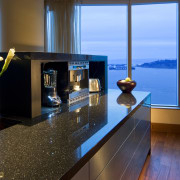 Interior view of this modern remodeled home - apartment, interior design, real estate, water, teal