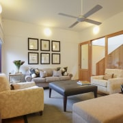 View of this contemporary remodeled lounge area - ceiling, interior design, living room, real estate, room, suite, orange