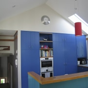 View of kitchen prior to renovations. - View furniture, house, interior design, room, shelving, gray