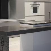 View of a contemporary kitchen area - View countertop, furniture, interior design, kitchen, product design, gray