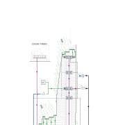View of the architectural plans for the Bank angle, area, diagram, line, plan, product design, white