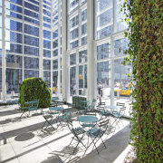 Interior view of the Bank of America Tower apartment, building, condominium, courtyard, mixed use, real estate, urban design, gray