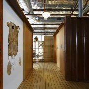 Interior view of office spaces at Light Space ceiling, flooring, interior design, wood, brown