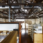 Interior view of the Light Space offices which interior design, loft
