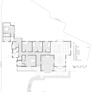 View of this home with unique design - angle, architecture, area, black and white, design, diagram, drawing, elevation, floor plan, font, line, plan, product, product design, structure, text, white